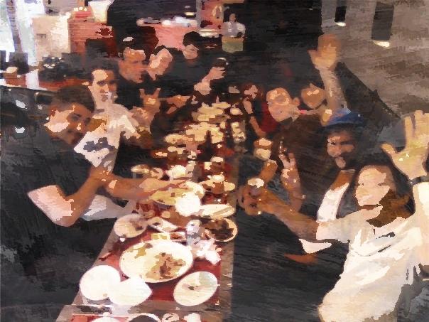 GROUP - EATING DINNER 4 BLOG